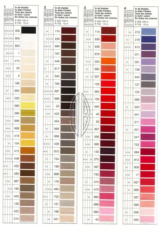 G termann silk color shade card